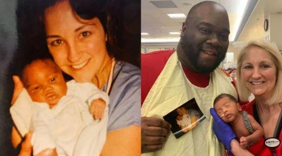 A mesma enfermeira cuidou do Pai e do filho recém-nascido após ambos nascerem prematuros