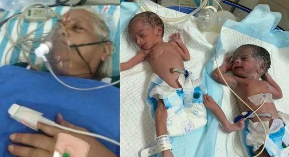 Mulher de 74 anos dá à luz a gêmeas e vira a mãe mais velha do mundo
