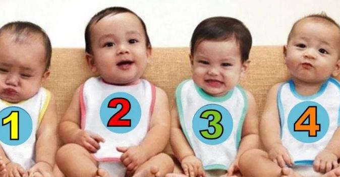 Teste: Adivinhe Qual Dos 4 Bebês É Uma Menina?