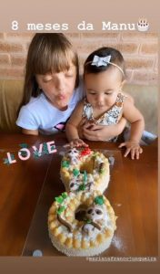 Ticiane Pinheiro comemora oito meses da filha Manuella com festa Encantadora!