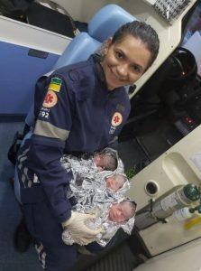Mãe dá à luz trigêmeos em casa em meio a pandemia de coronavírus