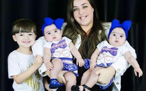 """""""Engravidei estando grávida"""", conta mãe de gêmeas"""